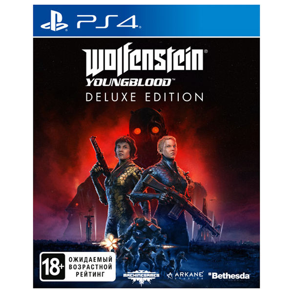 Игра для PS4 Wolfenstein: Youngblood (Русский язык), Шутер от первого лица, Deluxe издание, Blu-ray